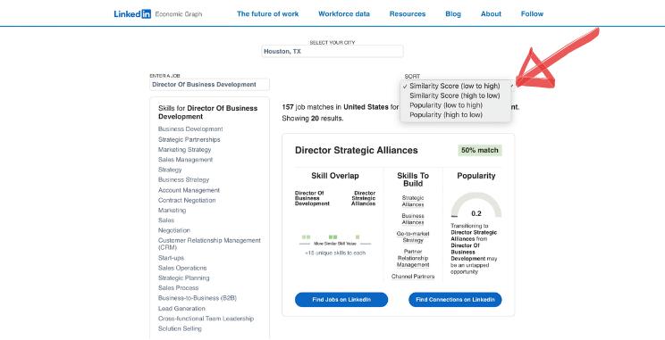 LinkedIn Career Explorer Career Paths