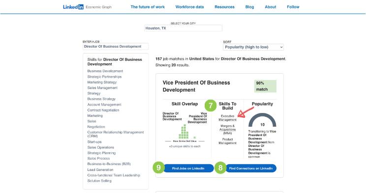 LinkedIn Career Explorer Job Titles