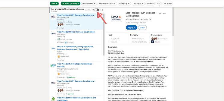LinkedIn Career Explorer Job Alert