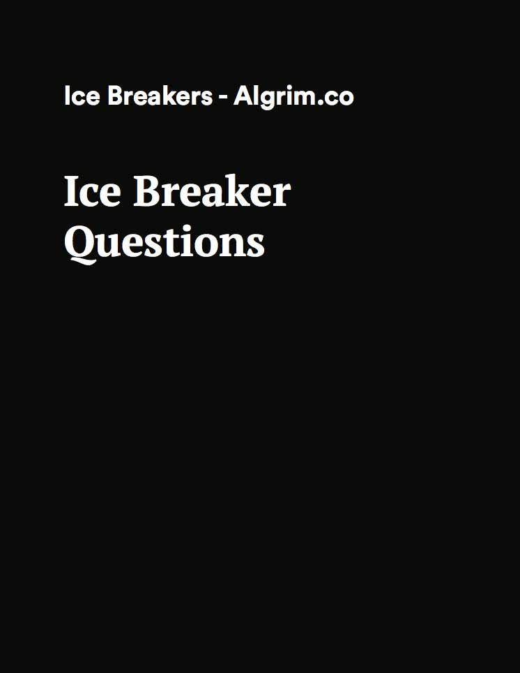 icebreaker questions pdf download