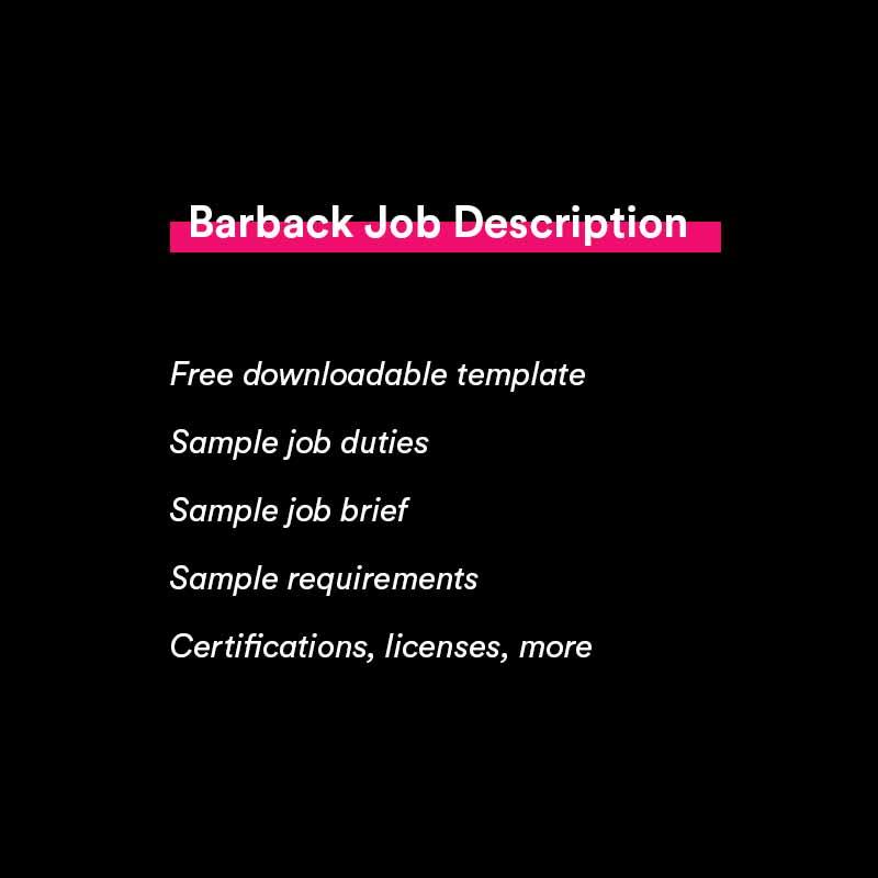 barback job description