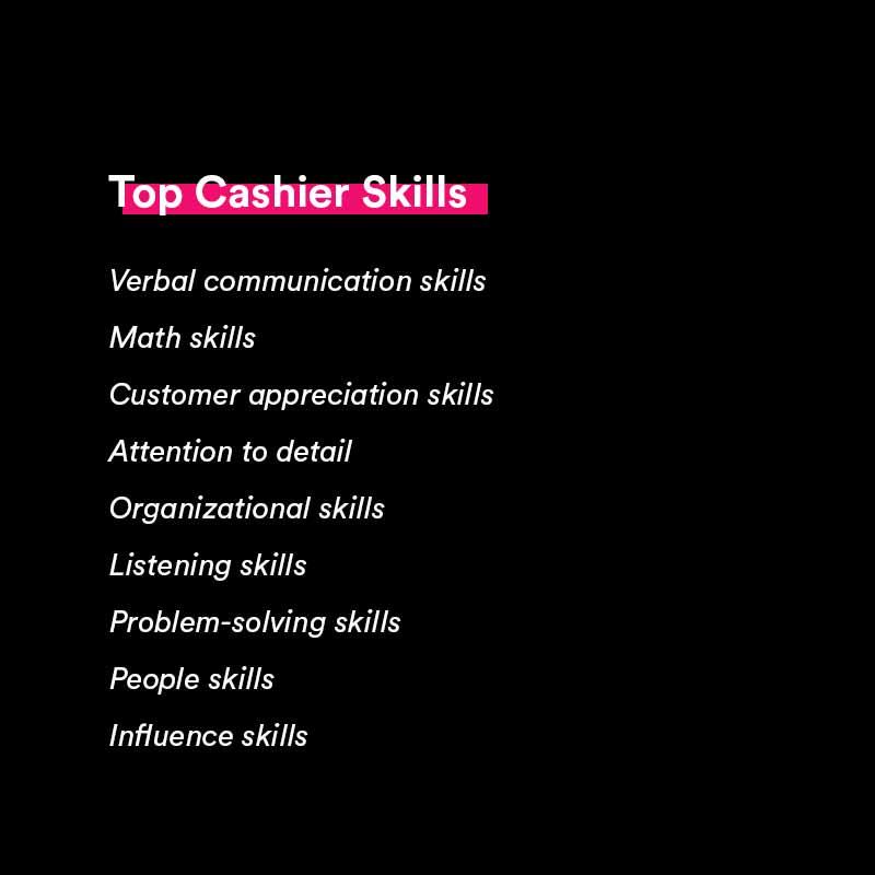 top cashier skills