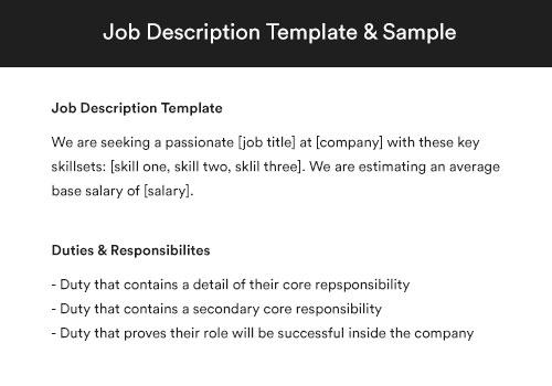 customer service job description
