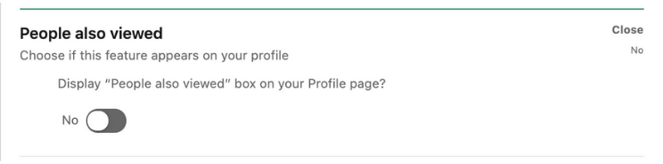 LinkedIn People Also Viewed