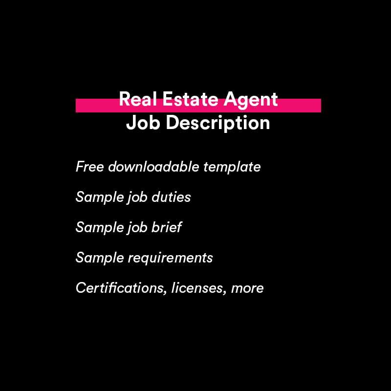 real estate job description