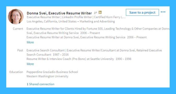 LinkedIn Recruiter Screenshot